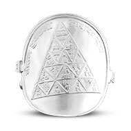 Shree Vaahan Durghatna Yantra Ring in Silver
