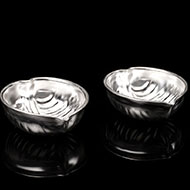 Haldi Kumkum containers in Pure Silver - Set of 2