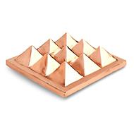 9 Pyramid Copper Vastu plate