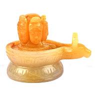 Pashupatinath Shivling in Yellow Jade - 645 gms