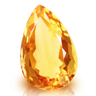 Yellow Citrine - 6.40 carats - Pear