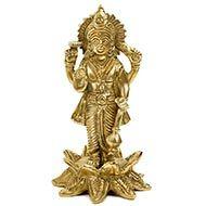 Vishnu Statue on Lotus in brass