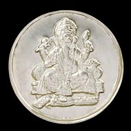 Saraswati - Ganesh  Yantra Coin Set