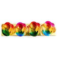 Decorative Earthern lamps - Set of 4 - OM Design