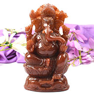 Ganesha in Red Aventurine - 1.320 kgs