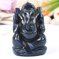 Blue Jade Ganesha - 128 gms
