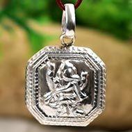 Ganesh Locket in Pure Silver - Design IX