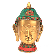 Buddha Face with Stone Work