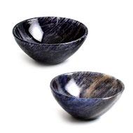 Blue Jade Gemstone Bowls - Set of 2 - I