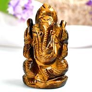 Tiger Eye Ganesha - 57 gms - I