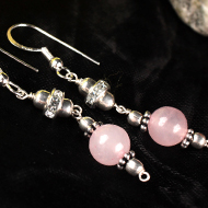 Rose Quartz Earrings set