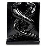 Two Nagas in Black Marble
