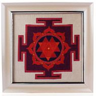 Durga Yantra on silk with frame