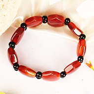 Red Carnelian Bracelet - Hexagon Shape