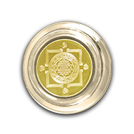 Shree Yantra in Puja Plate