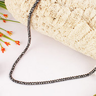 Hematite Bati Faceted Necklace