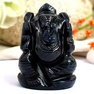 Blue Jade Ganesha - 118 gms