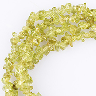 Peridot uncut beads necklace
