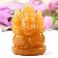 Ganesha In Yellow Jade - 173 gms