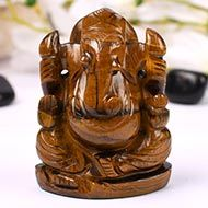 Tiger Eye Ganesha - 291 gms