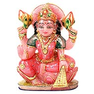 Exotic Laxmi Idol in Rose quartz-1.525 kgs
