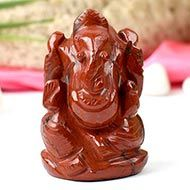 Red Jasper Ganesha - 115 gms
