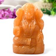 Laxmi in Yellow Jade-253 gms