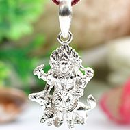 Bhairav Locket in pure silver