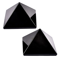 Pyramid in Natural Black Tourmaline - Set of 2