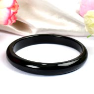 Black Agate Bangle - 35 gms