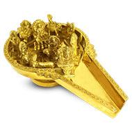 Brass Abhishek Tray with Navgraha Idols