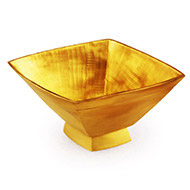Small square bowl in brass
