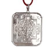 Divine ShreeYantram in silver pendant - 3D