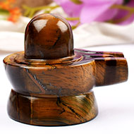 Shivlinga in Tiger Eye - 179 gms