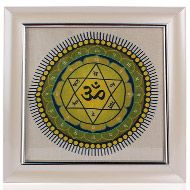 Mahasudarshan Yantra on silk with frame