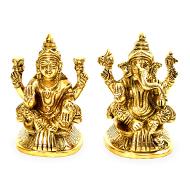 Lakshmi Ganesh in Brass - V