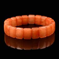 Orange Jade Bracelet