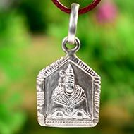 Tulja Bhavani Devi locket in pure silver - II