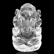 Ganesh Idol in pure quartz - 54 gms