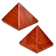 Pyramid in Natural Red Jasper - Set of 2