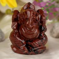 Mahogany Obsidian Ganesha - 108 gms