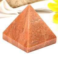 Pyramid in Red Jasper-III
