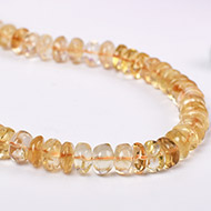 Citrine Mala - Button shape