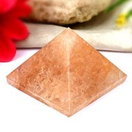 Pyramid in Natural Sunstone