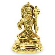 Hanuman statue in brass