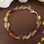 Yellow Topaz Oval Bracelet