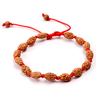 2 mukhi Moon bracelet from Java in silk thread