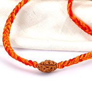 2 mukhi Rakhi in thread