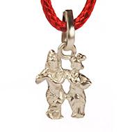 Radha Krishna Locket - in Pure silver - Design II