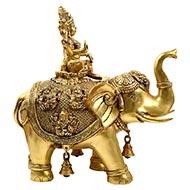 Asthalaxmi on Elephant Idol in Brass